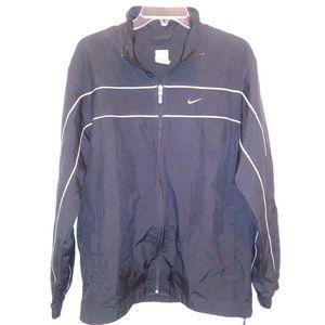 Nike Mens Jacket Windbreaker Sz Med Black Lightwei